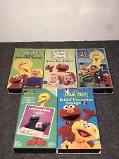 Sesame Street VHS Lot- Cookie Monster, Big Bird, Elmo, Bert And Ernie