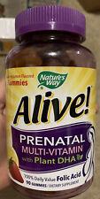Nature's Way Alive! Prenatal Gummy Multi w/ Plant DHA 90 gummies 8/2020 FRESH!