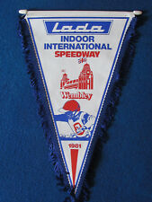 Vintage Speedway Pennant - Lada Indoor International - 1981 - Wembley