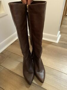 Michael Kors Brown Leather Knee High Boots Size 8M
