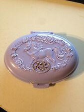 Polly Pocket Bluebird Vintage 1995 Unicorn Horse Meadow Purple Oval Compact