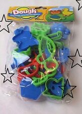 ✿ 20 Pc Multi Color Play Dough Shaper molds Plastic Tool Set > Cookie Cutters ✿
