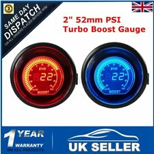 2'' 52mm PSI Turbo Red & Blue Display LED Vacuum Boost Meter Gauge Auto Car  *