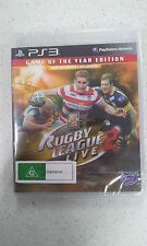 Rugby League Live 2 Game Of The Year (GOTY) Edition SONY PS3  Brand New