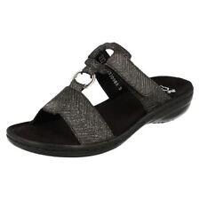 Sandali e scarpe nere tessile casual per il mare da donna