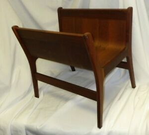 Vintage Mid Century Modern Wooden u-Shaped Magazine Rack Holder