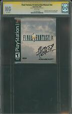 Final Fantasy IX CGC SS Nobuo Uematsu signed booklet autograph 9