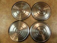 Set of 4 Rare Vintage Cadillac OEM 9 inch Center Caps