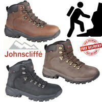 Johnscliffe Mens Canyon Leather Hiking Shoes Boy Hillwalking Trail Trek Boots UK