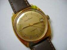 VINTAGE MEN WIND UP LUCIEN PICCARD 17 JEWELS RUN AND KEEP TIME