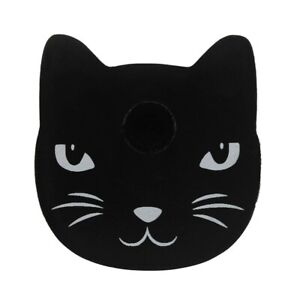 Black Cat Shaped Spell Candle Holder - Gothic Pagan Wicca (E120)