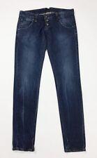 Please jeans donna usato skinny slim M W28 tg 42 vita bassa blu boyfriend T4424