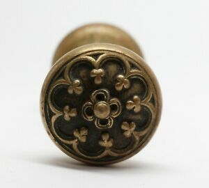 Antique Lockwood Brass Cornwall Door Knobs