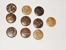Lot de 10 Boutons★En Noix de coco ★20mm-Couture/Scarpbooking★En rupture de stock