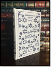 A Christmas Carol New Illustrated Cloth Bound Collectible Hardcover with Ribbon