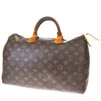 Auth LOUIS VUITTON Speedy 35 Travel Hand Bag Monogram Leather M41524 37MD852