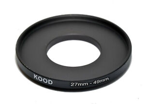 Stepping Ring 27mm - 49mm Step up Ring 27-49mm