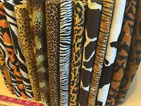 Animal print Fabric Cheetah Zebra Cow Leopard Giraffe Jaguar Lizard By the YARD