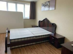 Mahogany Finish Italian Bedroom Furniture.