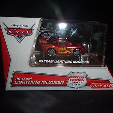 disney pixar cars RS team Lightning McQueen collectors edition display case NEW