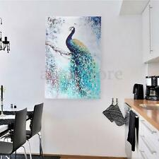 Unframed Print Modern Abstract Peacock Printing On Canvas Art Picture Home Decor