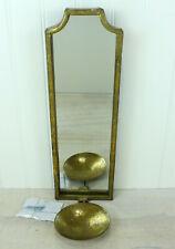 "World Market Emma Antiqued Gold Rectangle Wall Sconce 15"""