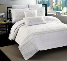 100% Cotton Coverlet / Bedspread Set Quilt King / Super King Size Bed 240x260cm