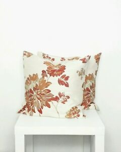 Red Floral Print Cushion Cover - Style My Pad