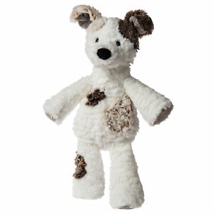 """Mary Meyer Marshmallow Reggie Pup Grey and White Soft Toy, 13"""""""