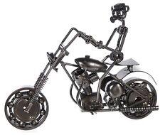 Metallfigur Motorradfahrer Biker Schraubenmännchen Schraubenfigur