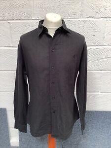 Versace Mens Black 100% Cotton Long Sleeve Shirt Size XXL Exc Con