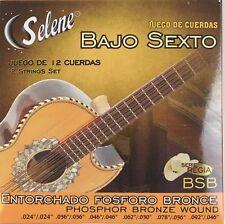 Juego De Cuerdas De Bronce Para Bajo Sexto. 12 Strings For Bajo Sexto BSB