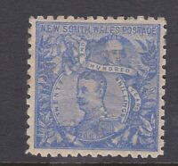 NSW88) New South Wales 1890 Centenary perf 10 20/- Cobalt-blue SG 264