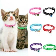 6 Colors Nylon Fabric Cat Dog Pet Collar Pattern Kitten Supplies Cat Puppy G5L6