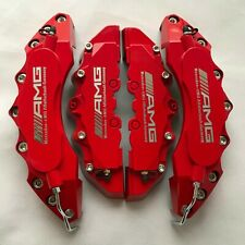 Engineering Plastic Red AMG Brake Caliper Covers Silver Font for Benz C C200 250
