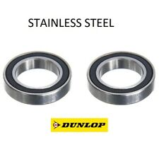 PAIR OF STAINLESS STEEL DUNLOP 61902-2RS (6902-2RS) QUALITY BEARINGS 15x28x7mm