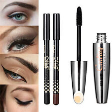 3D Fiber Mascara Makeup Curling Length Thick Eyelash Extension + 2* best A+