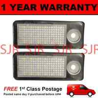 2X FOR AUDI A6 AVANT ESTATE 1998-2005 18 WHITE LED NUMBER PLATE LIGHT LAMPS