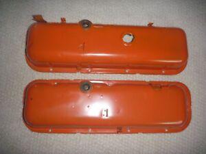 1970 Corvette Impala 396 427 BBC Factory Dripper Painted Steel Valve Covers