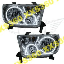ORACLE Halo HEADLIGHTS for Toyota Sequoia 08-16 WHITE LED Angel Demon Eyes