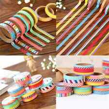 Lot 3PCS 5M DIY Paper Sticky Adhesive Sticker Decorative Scrapbooking Washi Tape