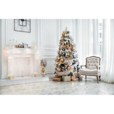10x10 ft Merry Christmas Tree Fireplace Photography Fireplace Gifts Background