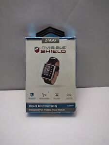 Zagg InvisibleShield HD Screen Protector for Pebble Steel Watch PSWHWS-F0B