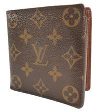 Louis Vuitton Authentic Men's Wallet Marco Monogram Canvas & Leather Bifold