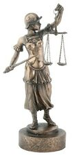 NEW! Scales of Justice Lawyer Statue with Sword for Attorney Judge BAR Justitia