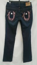 True Religion Jeans Dark Blue Wash Womens Size 27 (Size 4 Tall) Inseam 34