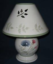 Lenox Artist Sketchbook Candle Lamp & Shade Cut Out Leaf Shapes Louise Le Luye