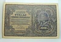 Km# 29 - 1000 marek 1919 - TB - Billet Pologne - N7881
