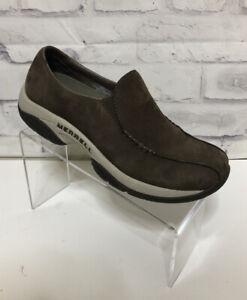 Merrell Womens Primo MOC Nubuck Leather Slip Hiking Shoes Sz 7.5 Air Cushion