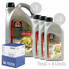 Engine Oil and Filter Service Kit 8 LITRES Millers XF Longlife C3 5w-30 8L